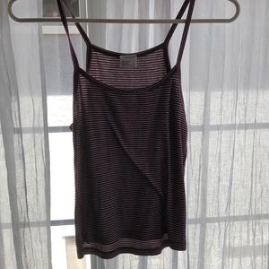 tillys white and red striped tank top